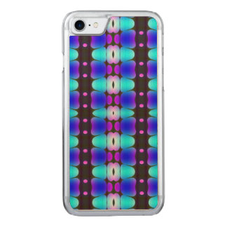 Psychedelic Hippy Stripes Blue Carved iPhone 8/7 Case
