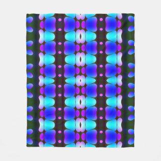 Psychedelic Hippy Stripes Blue Fleece Blanket