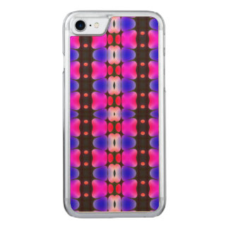 Psychedelic Hippy Stripes Pink Carved iPhone 8/7 Case