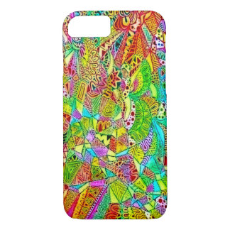 Psychedelic Hippy Watercolor Collage iPhone 7 Case