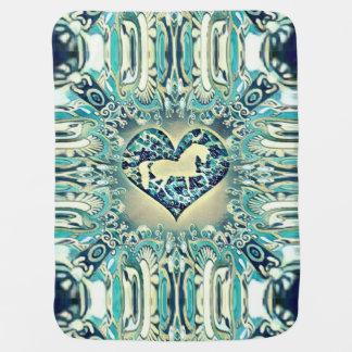 Psychedelic Horse Baby Blanket