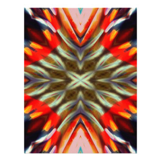 Psychedelic Illusion Abstract 21.5 Cm X 28 Cm Flyer