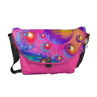Psychedelic Illusion Messenger Bags
