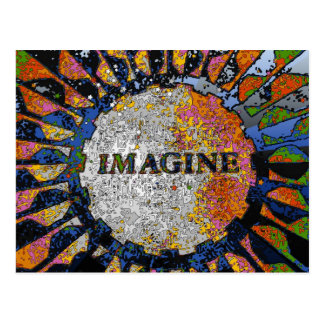 Psychedelic Imagine Mosaic, Strawberry Fields 01 Postcard