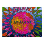 Psychedelic Imagine Mosaic, Strawberry Fields 02 Postcard