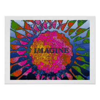Psychedelic Imagine Mosaic, Strawberry Fields 02 Poster