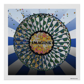 Psychedelic Imagine Mosaic, Strawberry Fields B1 Poster