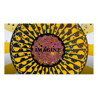 Psychedelic Imagine Mosaic, Strawberry Fields B3 Pack Of Standard Business Cards