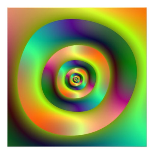 Psychedelic Inside Outside Rings Photograph