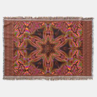 Psychedelic Jasmine 5 Throw Blanket