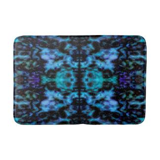 Psychedelic kaleidoscope pattern bath mat