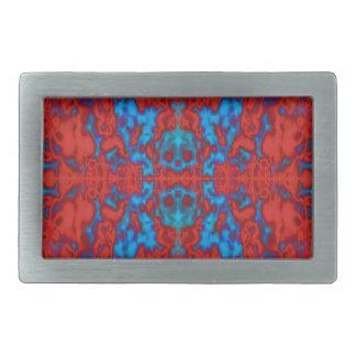 Psychedelic kaleidoscope pattern belt buckle