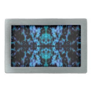 Psychedelic kaleidoscope pattern belt buckles
