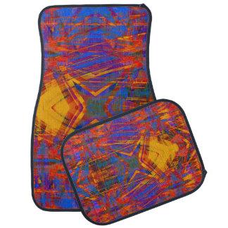 Psychedelic kaleidoscope pattern car mat