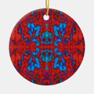 Psychedelic kaleidoscope pattern christmas ornament