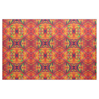 Psychedelic Kaleidoscope Pattern Fabric