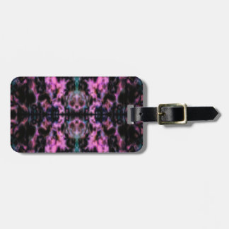 Psychedelic kaleidoscope pattern luggage tag