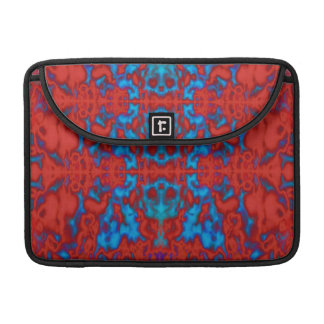 Psychedelic kaleidoscope pattern MacBook pro sleeve