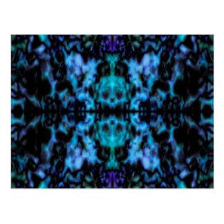 Psychedelic kaleidoscope pattern postcard