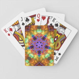 psychedelic kaleidoscope playing cards