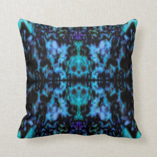 Psychedelic kaleidoscope skulls pattern cushion