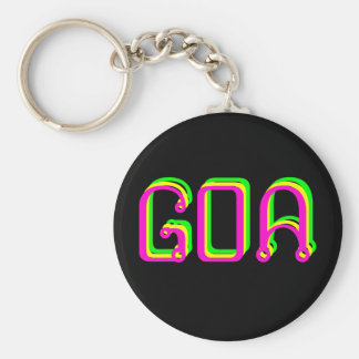 Psychedelic key-ring goa key ring