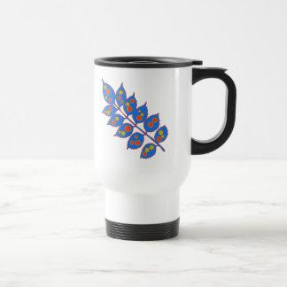 Psychedelic leaf coffee mug