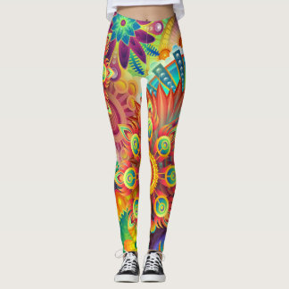 psychedelic leggins leggings