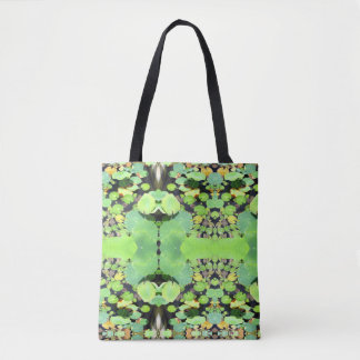 Psychedelic Lilly Pads Tote Bag