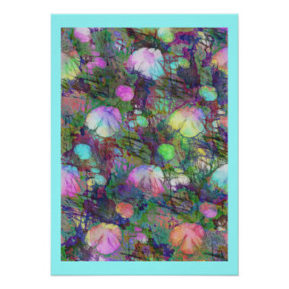 Psychedelic Lily Pad Light Show Poster