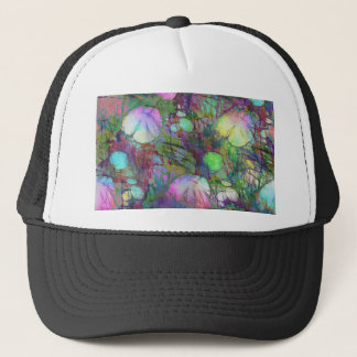 Psychedelic Lily Pad Light Show Trucker Hat