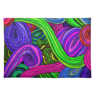 Psychedelic Lines (Green) Placemat