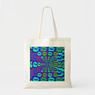 Psychedelic Lips Budget Tote Bag