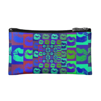 Psychedelic Lips Makeup Bags