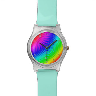 Psychedelic Liquid Rainbow I Wrist Watches