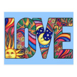 Psychedelic Love Postcard