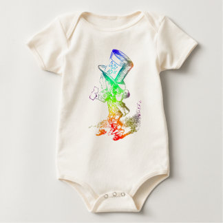 Psychedelic Mad Hatter Trippy Alice Baby Bodysuit