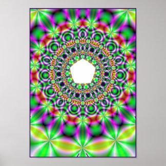 psychedelic mandala posters