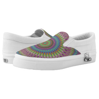 Psychedelic mandala Slip-On shoes