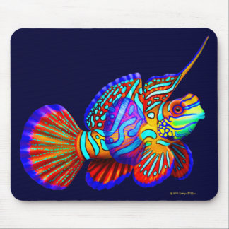 Psychedelic Mandarin Goby Fish Mousepad