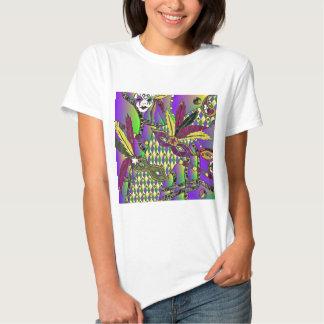 Psychedelic Mardi Gras Feather Masks Tshirts