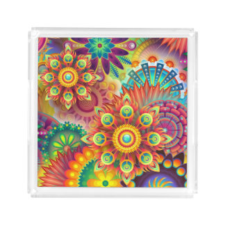 Psychedelic Mind Crush Acrylic Tray