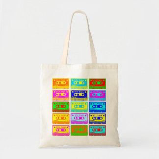 Psychedelic Mix Tape Tote Bag