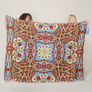 Psychedelic Money Mandala Satin Fleece Blanket