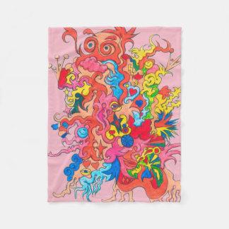 Psychedelic Monster Fleece Blanket