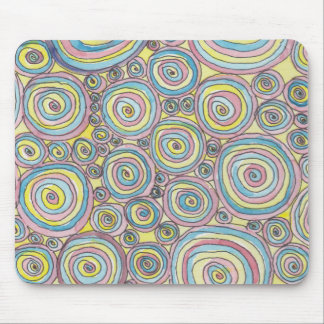 Psychedelic mousepath mouse mat