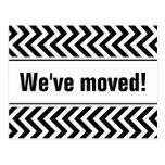 Psychedelic moving postcards | zig zag stripes