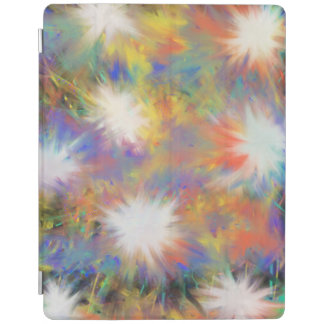 Psychedelic Multicoloured Star Abstract Art Design iPad Cover