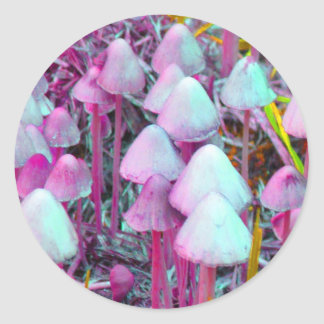 Psychedelic Mushrooms Classic Round Sticker