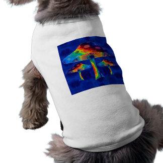 Psychedelic Mushrooms Sleeveless Dog Shirt
